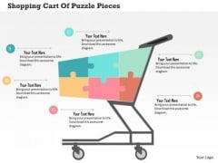 Shopping Cart Of Puzzle Pieces Presentation Template