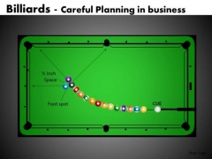 Show Careful Business Planning With Pool PowerPoint Templates