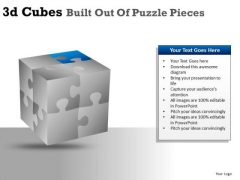 Show Factors And Percents Cube Puzzle Pieces PowerPoint Slides And Ppt Diagram Templates
