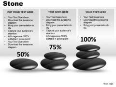 Show Percent Growth With Stones PowerPoint Slides And Ppt Diagram Templates