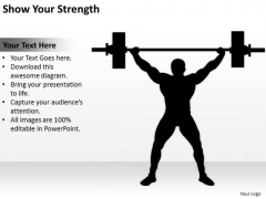 Show Your Strength Ppt Business Plan Template PowerPoint Templates