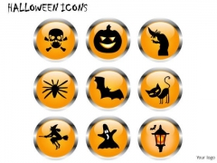 Signs Halloween Icons PowerPoint Slides And Ppt Diagrams Templates