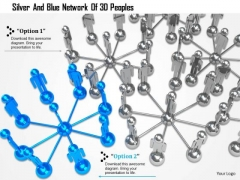Silver And Blue Network Of 3d Peoples Ppt Graphics Icons