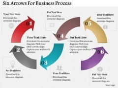 Six Arrows For Business Process PowerPoint Template