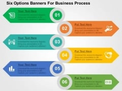 Six Options Banners For Business Process PowerPoint Template