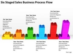 Six Staged Sales Business Process Flow Ppt Sample Of Plan Outline PowerPoint Slides