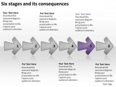 Six Stages And Its Consequences Business Plans For Small PowerPoint Templates