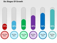Six Stages Of Growth PowerPoint Template