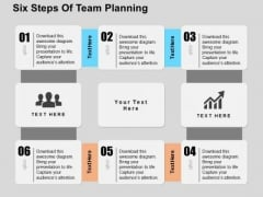 Six Steps Of Team Planning PowerPoint Templates