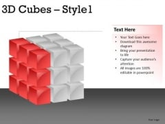 Slice Layers 3d Cube 1 PowerPoint Slides And Ppt Diagram Templates