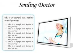 Smiling Doctor Medical PowerPoint Presentation Slides F