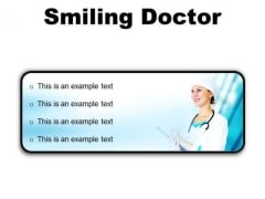 Smiling Doctor Medical PowerPoint Presentation Slides R