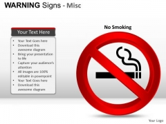 Smoking Warning Signs PowerPoint Slides And Ppt Diagram Templates