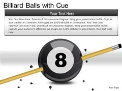 Snooker Billiard Balls With Cue PowerPoint Slides And Ppt Diagram Templates