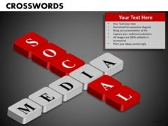 Social Media Crosswords PowerPoint Templates