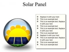 Solar Panel Geographical PowerPoint Presentation Slides C