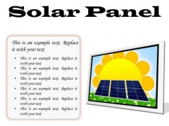 Solar Panel Geographical PowerPoint Presentation Slides F