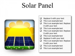 Solar Panel Geographical PowerPoint Presentation Slides S