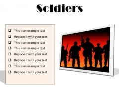 Soldiers Youth PowerPoint Presentation Slides F