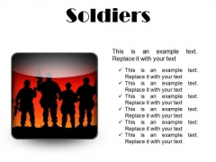 Soldiers Youth PowerPoint Presentation Slides S