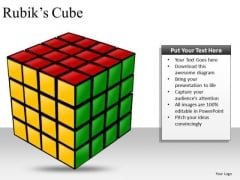 Solved Rubiks Cube PowerPoint Clipart Graphics