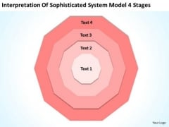 Sophisticated System Model 4 Stages Business Plans PowerPoint Slides