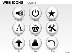 Sound Trash Tools Web Icons PowerPoint Slides And Ppt Diagram Templates