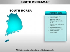 South Korea PowerPoint Maps