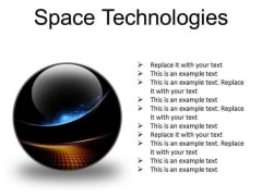 Space Technologies Abstract PowerPoint Presentation Slides C
