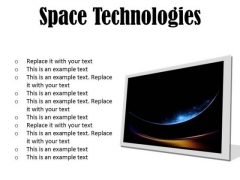 Space Technologies Abstract PowerPoint Presentation Slides F
