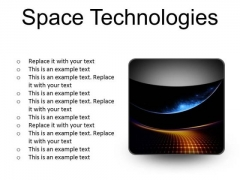 Space Technologies Abstract PowerPoint Presentation Slides S