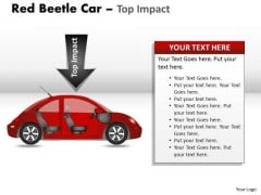 Speed Red Beetle Car PowerPoint Slides And Ppt Diagram Templates