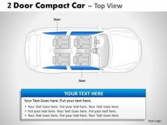 Speed Sport 2 Door Blue Car Top PowerPoint Slides And Ppt Diagram Templates
