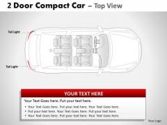 Speeding 2 Door Gray Car Top PowerPoint Slides And Ppt Diagram Templates