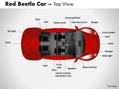 Speedster Red Beetle Car PowerPoint Slides And Ppt Diagram Templates