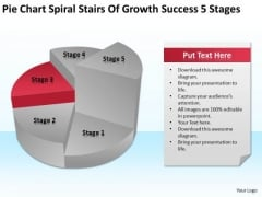 Spiral Stairs Of Growth Success 5 Stages Ppt Ultimate Business Plan Template PowerPoint Slides