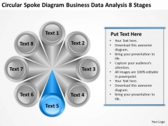 Spoke Diagram Business Data Analysis 8 Stages Barber Shop Plan PowerPoint Templates