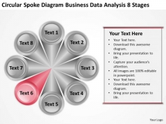 Spoke Diagram Business Data Analysis 8 Stages Plan Help PowerPoint Templates