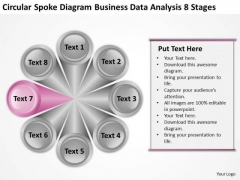 Spoke Diagram Business Data Analysis 8 Stages Plan PowerPoint Templates