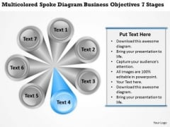 Spoke Diagram Business Objectives 7 Stages Ppt Plan PowerPoint Slides