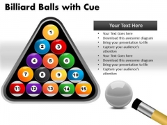 Sport Billiard Balls With Cue PowerPoint Slides And Ppt Diagram Templates
