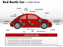 Sports Red Beetle Car PowerPoint Slides And Ppt Diagram Templates