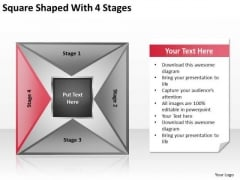 Square Shaped With 4 Stages Ppt Your Business Plan PowerPoint Templates