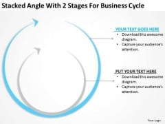 Stacked Angle With 2 Stages For Business Cycle Ppt Food Truck Plan PowerPoint Templates