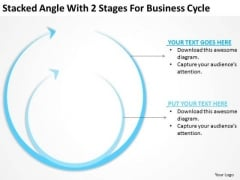 Stacked Angle With 2 Stages For Business Cycle Ppt Plan Assistance PowerPoint Slides