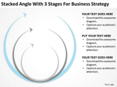 Stacked Angle With 3 Stages For Business Srategy Ppt Free Plan Forms PowerPoint Slides
