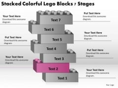 Stacked Colorful Lego Blocks 7 Stages Ppt Business Planning PowerPoint Templates