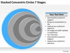 Stacked Concentric Circles 7 Stages Ppt Business Plan Examples PowerPoint Slides