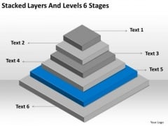 Stacked Layers And Levels 6 Stages Ppt Business Plan For PowerPoint Slides