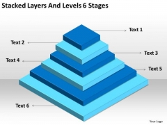 Stacked Layers And Levels 6 Stages Ppt Create Business Plan Free PowerPoint Slides